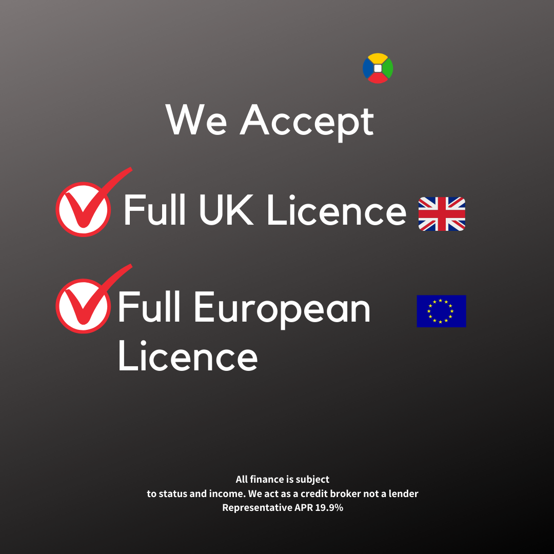 We Accept - full UK licences and full EU licences